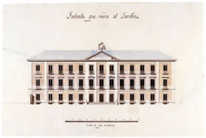 1805 Antonio López Aguado, project for the Villahermosa Palace, Garden Façade, Museo de Historia de Madrid, IN 2691, donation from the Duke of Villahermosa