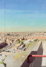 Madrid desde Vallecas (detalle). Antonio López