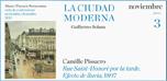 """Ciclo de conferencias """"La ciudad moderna"""": Camille Pissarro Rue Saint-Honoré por la tarde. Efecto de lluvia (1897"""