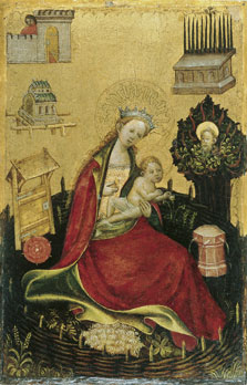 The Virgin and Child in the Hortus Conclusus (left wing),  Anonymous German Artist active in Westphalia