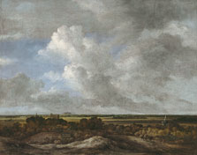 View inland from the coastal Dunes, Attributed to Jacob Isaacksz. van Ruisdael
