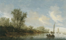 A River with Fishermen, Salomon Jacobsz. van Ruysdael