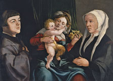 Madonna of the Daffodils with the Christ Child and Donors, Jan van Scorel