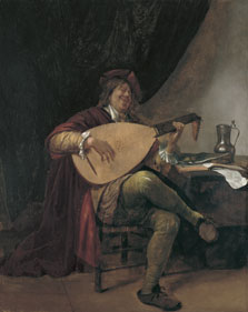 Autorretrato con laúd, Jan Havicksz. Steen