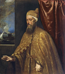 Portrait of Doge Francesco Venier,  Titian