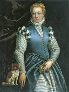 Portrait of a Woman with a dog,  Veronese