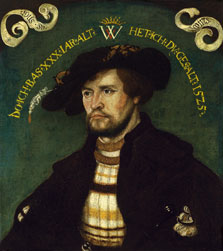 Portrait of a Man at the aged Thirty, Attributed to Hans  Wertinger