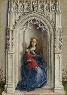 The Virgin and Child enthroned, Rogier van der Weyden
