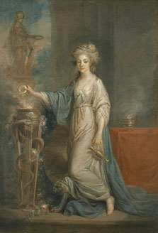 Portrait of a Woman as a Vestal Virgin, Angelica Kauffmann