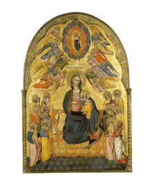 The Virgin of Humility with the Holy Father, the Holy Spirit and the twelve Apostles, Cenni di Francesco di Ser Cenni