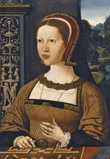 Portrait of a Woman possibly Elizabeth of Denmark, Jacob Cornelisz. van Oostsanen