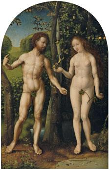 Adam and Eve, Jan Gossaert