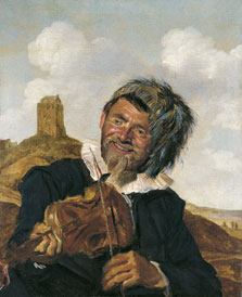 Fisherman playing the Violin, Attributed to Frans  Hals