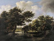 Woodland Pond, Meindert Lubbertsz. Hobbema