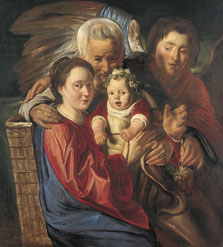 The Holy Family with an Angel, Jacob Jordaens and Workshop