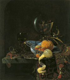 Still Life with a Porcelain Bowl and Nautilus Cup, Willem Kalf