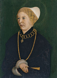 Portrait of a Woman (Anna Fugger?),  Master of the Monogram TK