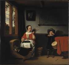 The naughty Drummer, Nicolaes Maes