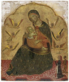 The Virgin of Humility with Angels and a Donor,  Anonymous Venetian Artist ca. 1360