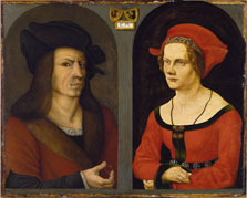 Nuptial Portrait of Coloman Helmschmid and Agnes Breu, Jörg Breu the Elder, and an Anonymous Painter
