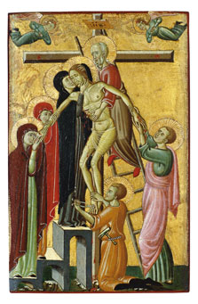 The Descent from the Cross,  Master of Forlì