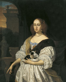 Portrait of a Lady with a Lapdog, Frans van Mieris I