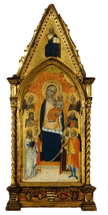The Virgin and Child between Angels and Six Saints, Niccolò di Tommaso