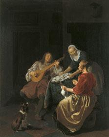 Oyster Eaters, Jacob Lucasz. Ochtervelt