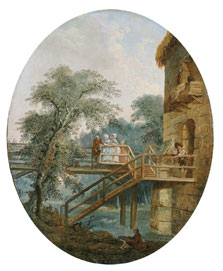 The Footbridge, Hubert Robert