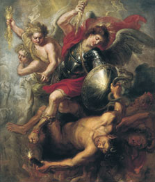 Saint Michael expelling Lucifer and the Rebellious Angels, Workshop of Rubens