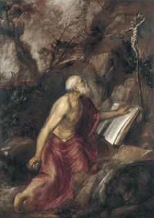 The penitent Saint Jerome ,  Titian