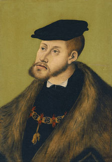 Portrait of the Emperor Charles V, Lucas  Cranach , the Elder