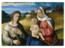 The Virgin and Child with Saint Agnes in a Landscape, Pietro degli Ingannati