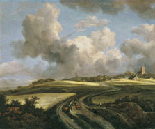 Road through Fields of Corn near the Zuider Zee, Jacob Isaacksz. van Ruisdael