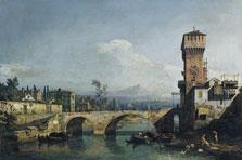 Capricho con río y puente, Bernardo Bellotto
