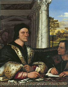 Portrait of Ferry Carondelet with his Secretaries, Sebastiano del Piombo