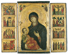 Triptych with the Virgin and Child,  Anonymous Venetian Artist ca. 1300-10