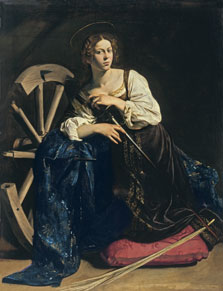 Santa Catalina de Alejandría,  Caravaggio