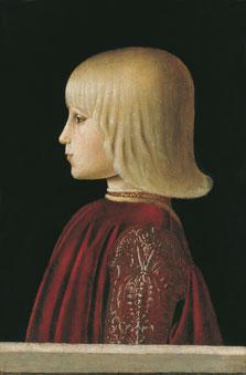 Retrato de un niño. Guidobaldo da Montefeltro (?), Piero della Francesca