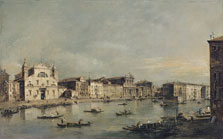 The Grand Canal with Santa Lucia and Santa Maria di Nazareth, Francesco Guardi