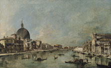 The Grand Canal with San Simeone Piccolo and Santa Lucia, Francesco Guardi