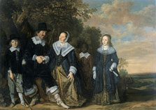 Family Group in a Landscape, Frans Hals