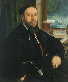 Retrato de Matthäus Schwarz, Christoph Amberger
