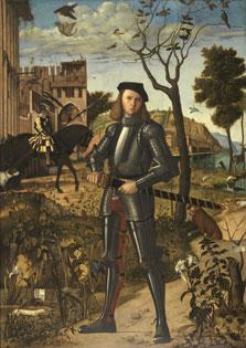 Joven caballero en un paisaje, Vittore Carpaccio