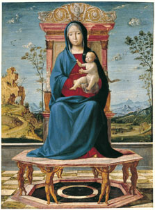 The Virgin and Child enthroned, Lorenzo Costa