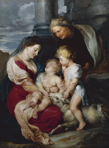 The Virgin and Child with Saint Elizabeth and Saint John the Baptist, Peter Paul Rubens