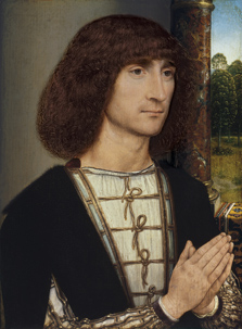 Portrait of a young Man praying (front), Hans Memling