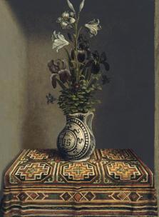 Flowers in a Jug (reverse), Hans Memling