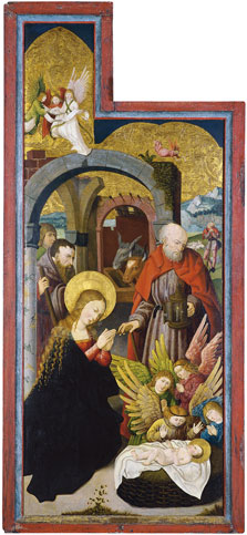 The Adoration of the Sheperds (interior left wing),  Anonymous German Artist active in Swabia ca. 1515