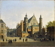 View of the Binnenhof, The Hague, Gerrit Adriaensz. Berckheyde